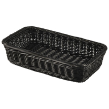 Polywicker Display Basket GN 1/3 Black x1