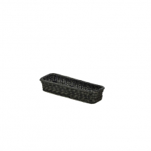 Polywicker Display Basket Black 32 x 11 x 5.5cm x1
