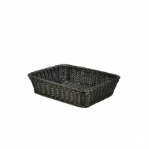 Polywicker Display Basket Black 36.5 x 29 x 9cm x1