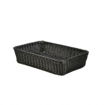 Polywicker Display Basket Black 46 x 31 x 10cm x1