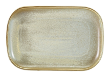 Terra Porcelain Matt Grey Rectangular Plate 29 x 19.5cm x6
