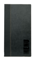 Contemporary Long Menu Holder Black 4 Pages x1