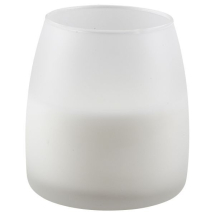 Soft Glow Glass Candle White 45H (6Pcs) x1
