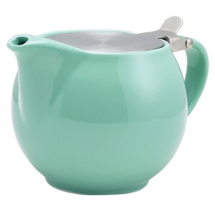 Genwere Porcelain Green Teapot with S/S Lid & Infuser 50cl/17.6oz