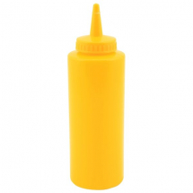 GenWare Squeeze Bottle Yellow 12oz/35cl x1