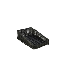 Wicker Display Basket Black 40X25X12cm x1