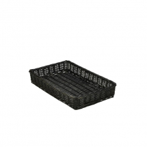 Wicker Display Basket Black 46X30X8cm x1