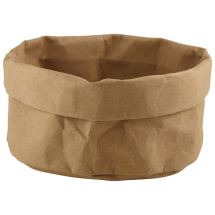 Brown Washable Paper Bag 20Diax14cm(H) x1