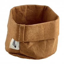 Brown Washable Paper Bag 7 Dia x 6cm (H) x1