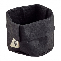 Black Washable Paper Bag 7 Dia x 6cm (H) x1
