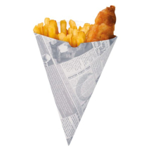 Colpac CC1NP Small Newsprint Chip Cone 183x151mm  x1000