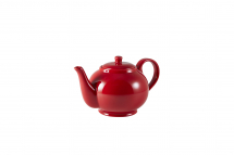 GenWare Porcelain Red Teapot 85cl/30oz x6