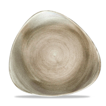 Stonecast Patina Antique Taupe Lotus Plate 10.5inch x12