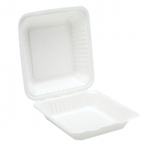 9inch Bagasse Clamshell Meal Box x200