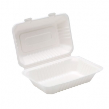 9x6inch Bagasse Lunch Box 160x230mm